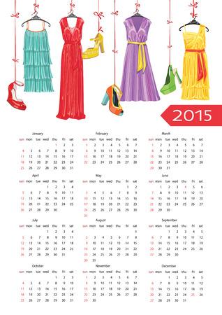 womenīŋŊs: Fashion European calendar  Colorful women s party dress and shoe