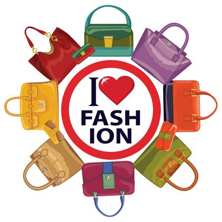 leather goods: Colored fashion women s handbags I love fashion