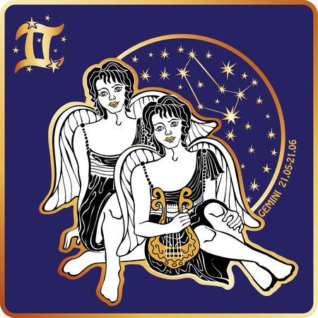 future twin: Horoscope.Gemini zodiac sign with boys twins