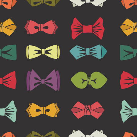 official wear: Bow tie seamless pattern. Cartoon colorful  Illustration