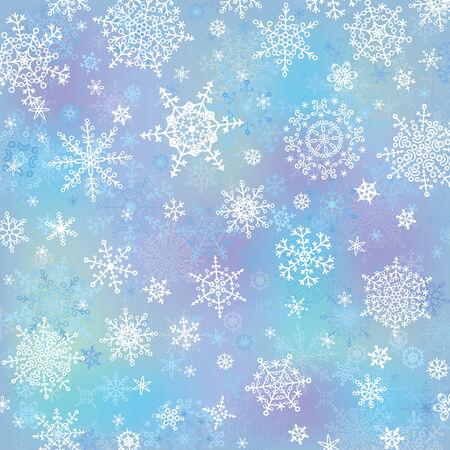 Snowflake on blur background.