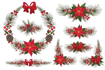 flor de pascua: Feliz Navidad y Año Nuevo Corona, grupo