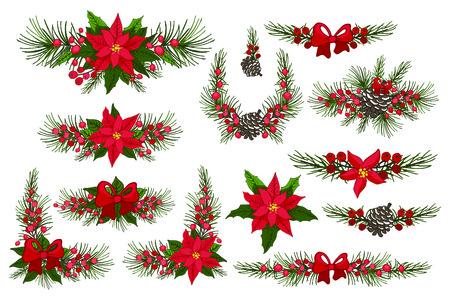 flor de pascua: Feliz Navidad y Año Nuevo la frontera, grupo