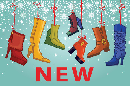leather goods: Fashionable colored womens boots,shoes.New