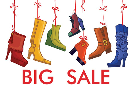 hang up: Fashionable colored womens boots,shoes.Big sale