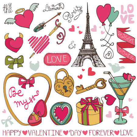 Romantic big bundlehand drawing valentinewedding decor royalty valentine daywedding decoramelove elements collection vector junglespirit Image collections