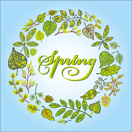 wrath: Spring green leaves wreath
