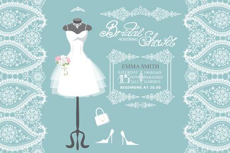 bridal dress: Wedding bridal dress with winter paisley border
