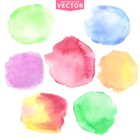 Watercolor stains.Soft,cute colors Illustration