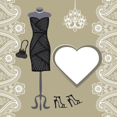 short skirt: Little black dresses ,chandelier,paisley border