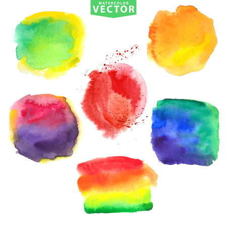 couleurs vives: Aquarelle stains.Vivid couleurs vives Illustration