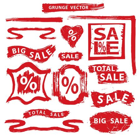 Sale.Grunge Stamps,badges,label,banners set Vector