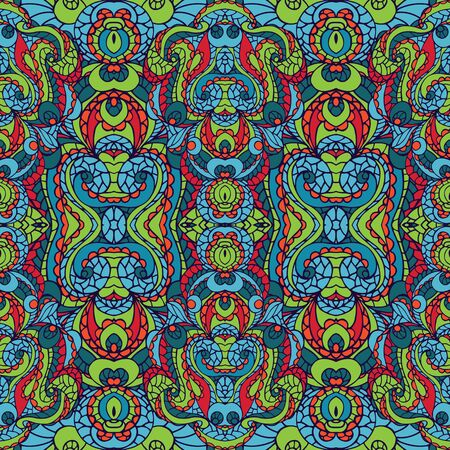 symmetry: Abstract symmetry swirl seamless pattern.Colorful