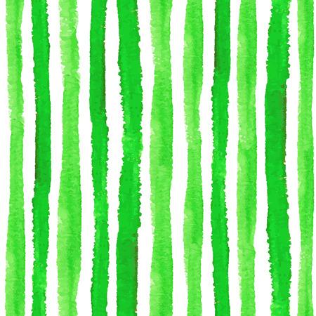 Grenzen van het waterverf de naadloze patroon Groene verticale stroken Ecologie, natuurlijke Handtekening het schilderen achtergrond. Voor Achtergrondachtergrond, stof of Behang. Vector Bio, eco, natuurlijk ontwerp.