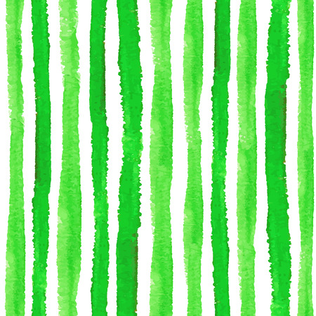 Watercolor seamless pattern borders.Green vertical strips.Ecology,natural  Hand drawing painting background .For Backdrop background,fabric or Wallpaper.Vector.Bio,eco ,natural design. 向量圖像