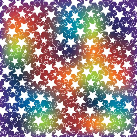 Holiday background. The rainbow blur and the stars.Bright  pattern or background. Festive set. Use for Wallpaper , background , web backdrop, web page.The vector.