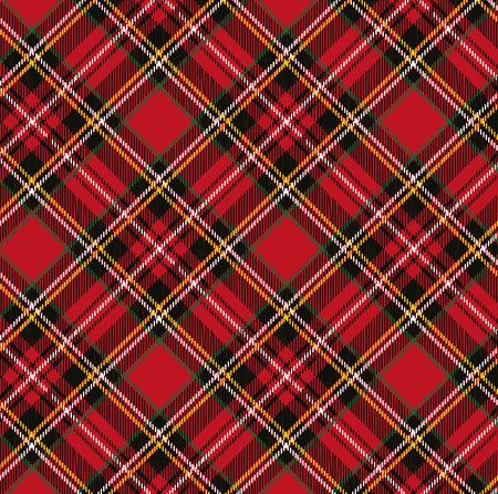 Tartán, tela escocesa background.Folk Retro style.Fashion ilustración, vector Wallpaper.Christmas, año nuevo decor.Traditional rojo, negro, verde ornamento escocés verde Ilustración de vector