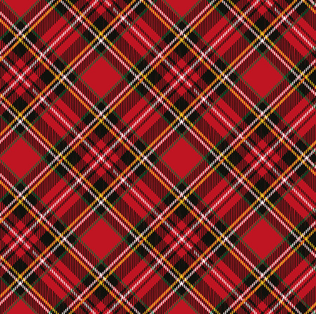 Tartan, plaid patroon background.Folk Retro style.Fashion illustratie, vector Wallpaper.Christmas, nieuw jaar decor.Traditional rood, zwart, groen groene Schotse ornament