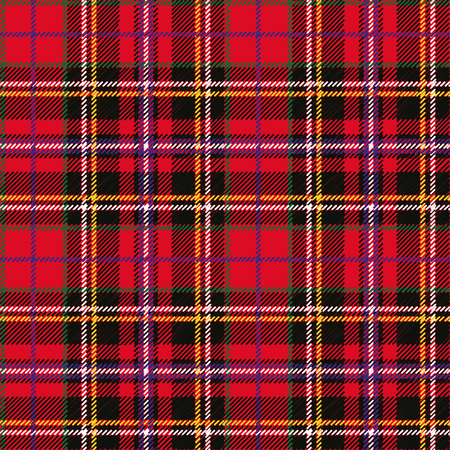 Tartan, plaid Seamless pattern. Wallpaper,wrapping paper,textile.Retro style.Fashion illustration,vector background.Christmas,new year  decor.Traditional red,black and green green scottish ornament