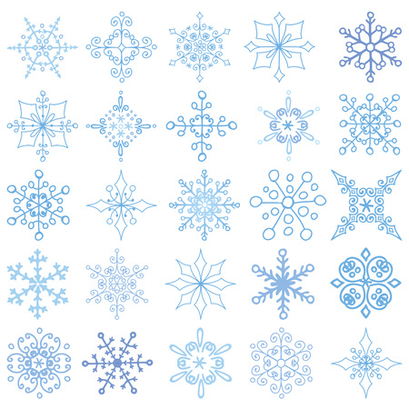 rosettes: Snowflakes et,Silhouette icon,Winter elements.Christmas,new year holiday decor.Round shape,ornate lace, crystal Vector.Vintage Doodles,ornate isolated shapes,rosettes. Illustration