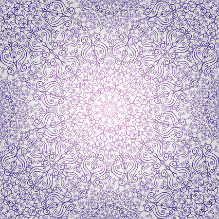 east indian: Mandala pattern,background.Vintage decorative ornament,background. East and Islam,Arabic,Indian,ottoman motifs and revival swirling.Abstract Tribal and ethnic texture.Orient,symmetry lace,fabric and wallpaper.Violet