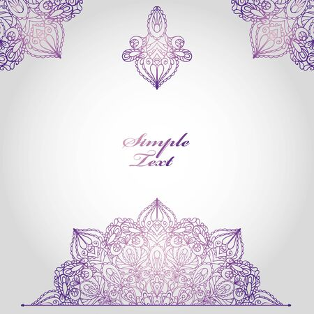 east indian: Mandala pattern and background.Vintage decorative ornament,background. East and Islam,Arabic and Indian,motifs.Ethnic texture.Orient,symmetry lace,fabric and wallpaper.Wedding and holiday card.