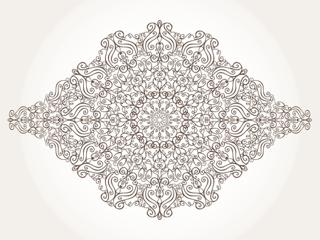 east indian: Mandala pattern and background.Vintage decorative ornament and background. East,Islam,Arabic,Indian,motifs and revival swirling.Ethnic texture.Orient,symmetry lace,fabric and wallpaper.Wedding and holiday card.