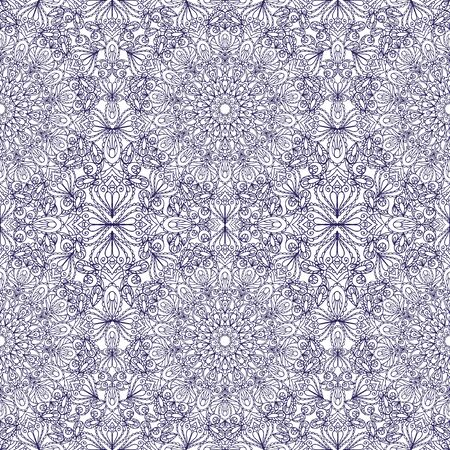 east indian: Mandala seamless pattern and background. Vintage decorative ornament. Hand drawn background. East,Islam, Arabic, Indian and ottoman motifs.Abstract Tribal and ethnic texture.Orient, symmetry lace,fabric and wallpaper Illustration