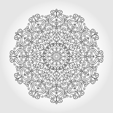 east indian: Mandala pattern. Vintage decorative ornament.Hand drawn swirls background. East,Islam,Arabic Indian and ottoman motifs.Abstract Tribal and ethnic texture.Orient, symmetry lace,meditation symbol.