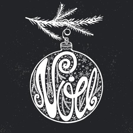 Christmas,Joyeux Noel greeting card.