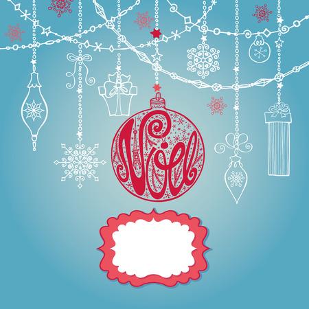joyeux: Christmas Joyeux Noel greeting card