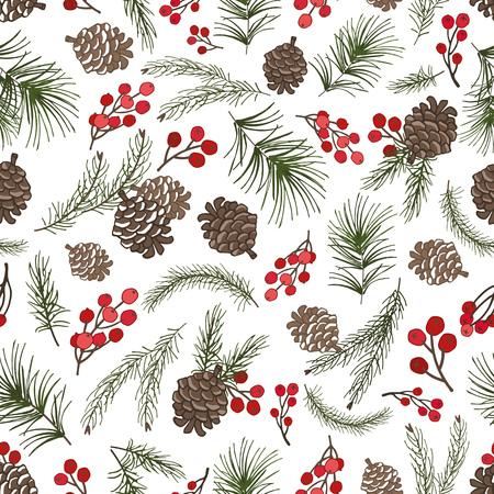 arbre de Noël branches vertes Pine Cone