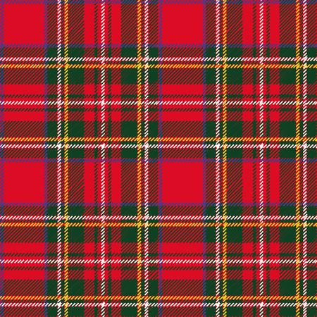 Tartan, geruite Naadloos patroon. Behang, inpakpapier, textiel. Retro stijl. Mode, vector en achtergrond. Kerst, nieuw jaar decor. Traditioneel rood, zwart en groen groen Schots ornament.