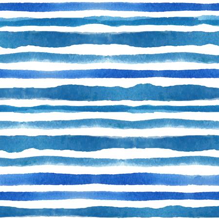 Aquarel strips naadloze patroon set. Blauwe cyaan achtergrond Stockfoto - 75533493