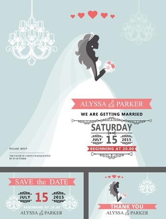 Bruids de doucheuitnodiging van het huwelijk. De bruid van het carton, kroonluchter Stockfoto - 77437872