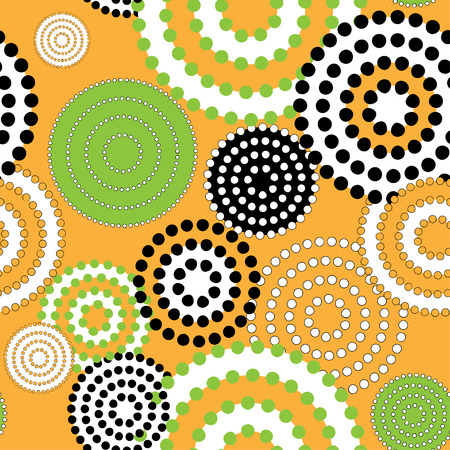Seamless Pattern with Concentric Circle. 矢量图像