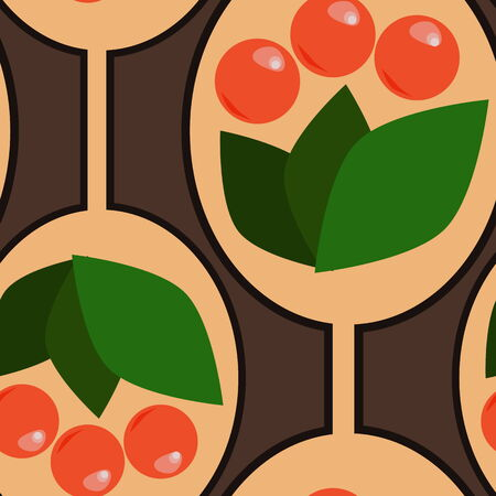 cowberry: Abstract berry pattern background