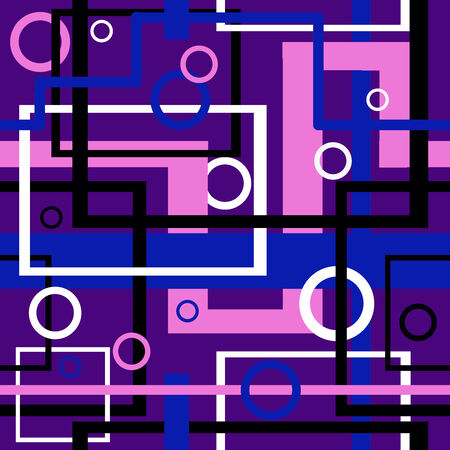 Seamless pattern. Geometric vector background. Vector