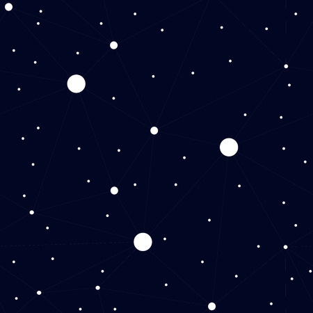 Seamless pattern with night sky and stars. Vector background. Vector