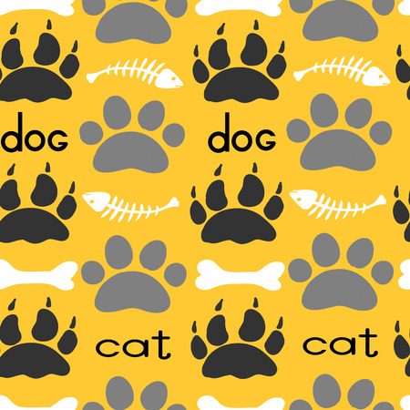 Pets Textile Pattern. Vector seamless.