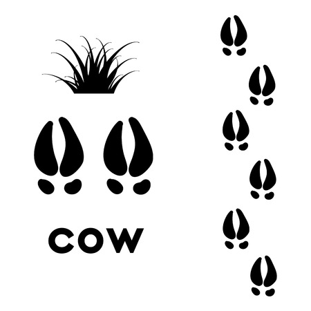 animal paw prints: animal paw prints Illustration