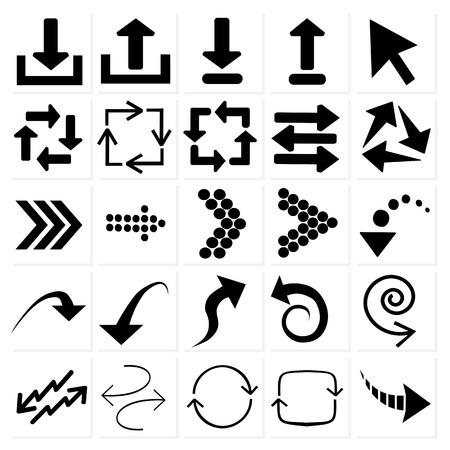 arrow circle: set of black arrows