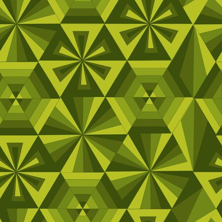 chipped: green geometrical poligon pattern Illustration