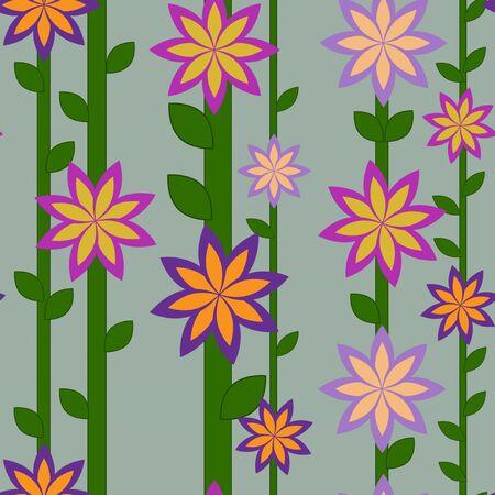 lineas verticales: patr�n de flores y las l�neas verticales
