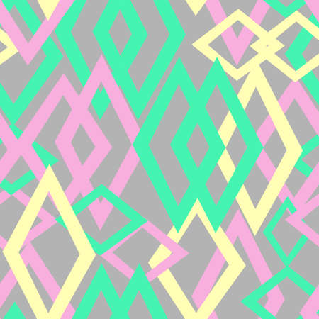 rhomb: Cute pastel pattern. Seamless texture with rhomb Illustration