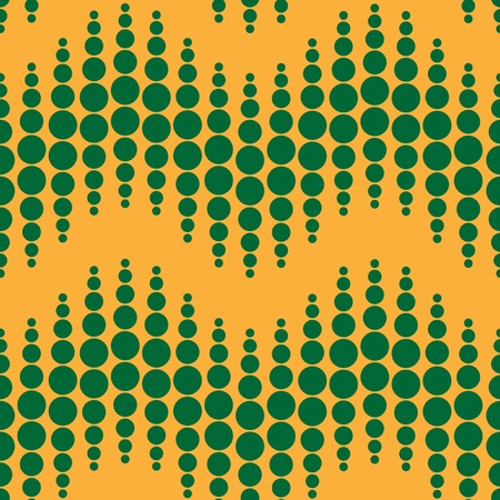 curvature: Seamless geometric pattern. Vertical wavy dots. Vector repeating texture with curvature effect