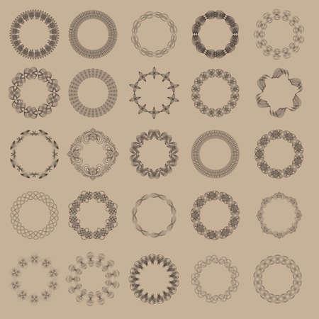 microprint: Guilloche vector elements. Illustration
