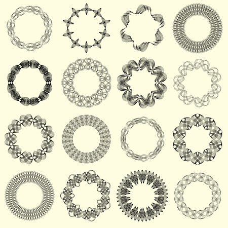 guilloche: Guilloche vector elements. Illustration