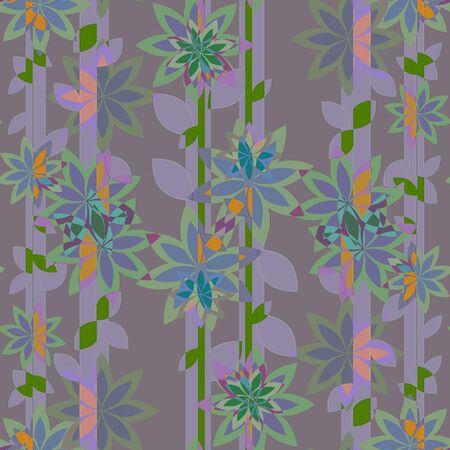 lineas verticales: patrón de flores y las líneas verticales