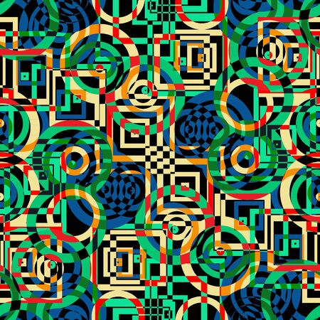 psychodelic: Colorful  texture seamless psychodelic pattern background